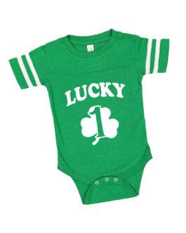 """Lucky One"" Jersey Onesie"