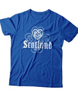 """""""Love Scotland"""" Blend Adult T-shirt (Blue)"""