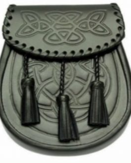Black Celtic Design Sporran
