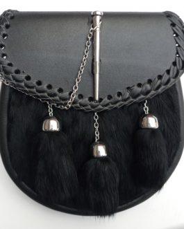 Black & Silver Three-Tassel Sporran