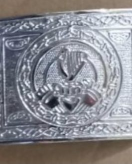 Celtic Harp Design Belt Buckle