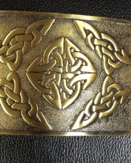 Brass Dara Celtic Knot Design Belt Buckle